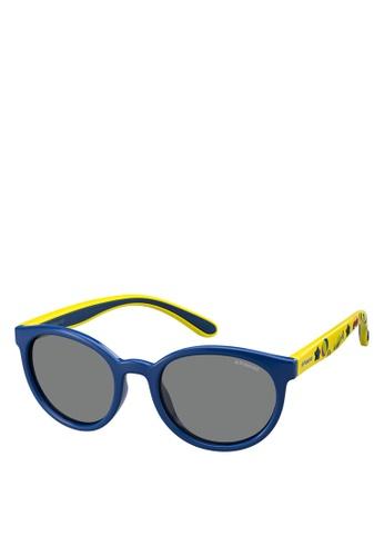 Polaroid Kids yellow and blue 8014/S Sunglasses 519DFKCC1AB9A6GS_1
