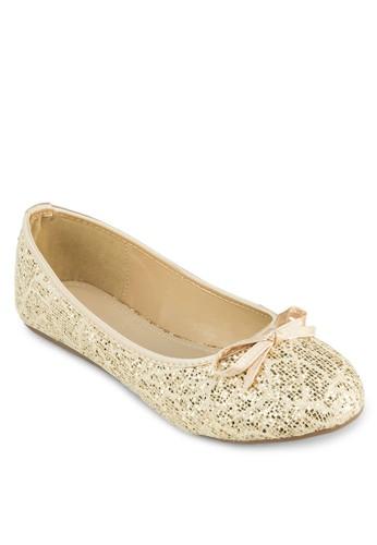 閃飾雕花蝴蝶結娃娃鞋, 女鞋,zalora時尚購物網評價 鞋