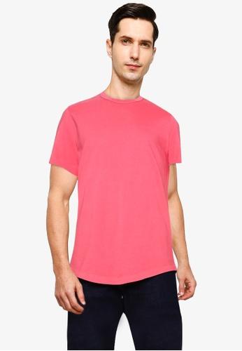 GAP red Perf Lux Jacquard Chest Stripe Polo Shirt EE9FDAAB4EA4BEGS_1