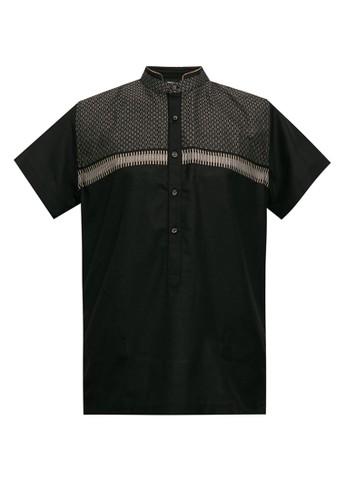 Manzone black GUFRAN-BLACK Kaftan 5FD8FAAA55EBD1GS_1