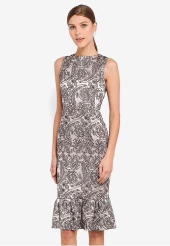 Vesper silver Vesper Hannah Frill Hem Midi Dress VE733AA0SXABMY_1