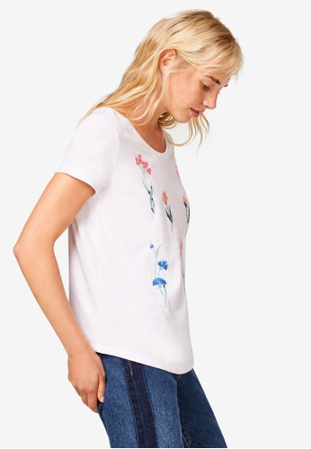 ESPRIT white Short Sleeve T-Shirt 99E35AA53E47D3GS_1