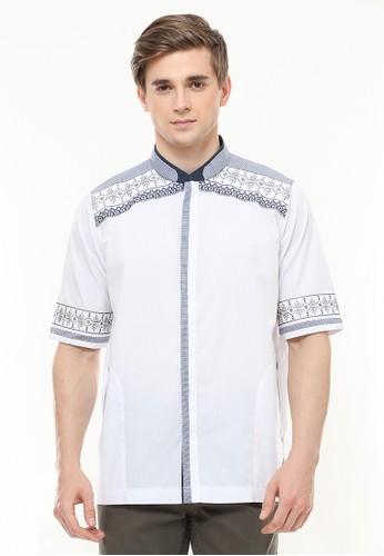 LGS white LGS - Regular Fit - Baju Koko - Motif Placket - Bordir - Putih 8F95FAA596DDCEGS_1