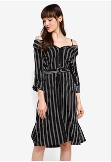1cf2ca57777 Vero Moda Saga Singlet Short Dress RM 119.00 NOW RM 94.90; Striped Off  Shoulder Shirt Dress