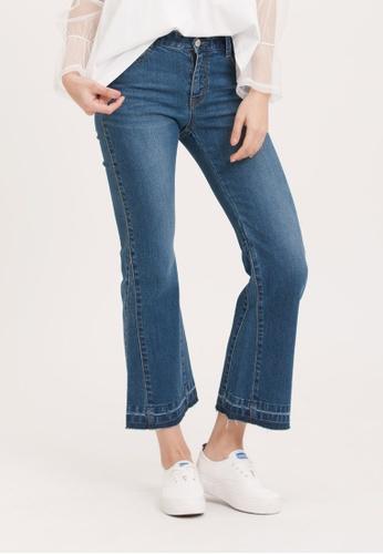H:CONNECT blue Slim Bootcut Jeans DA116AAD3020FCGS_1