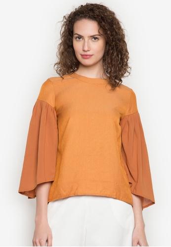 R.A.F. by Plains & Prints orange and multi Wonju Long Sleeves Top RA114AA0JZP0PH_1