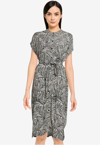 Vero Moda black Gea Cap Calf Shirt Dress C49D2AA04117EFGS_1