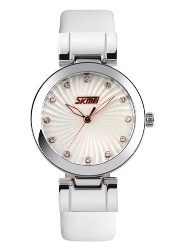 Digitec silver Skmei - Jam Tangan Wanita - White - Leather Strap - 9086-B DI108AC0VCRAID_1