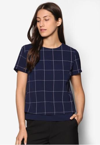 Collection 印花層次短袖T-shirt、 服飾、 上衣ZALORACollection印花層次短袖上衣最新折價