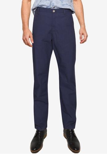 LC Waikiki navy Regular Fit Plaid Trousers A932EAA6F330BFGS_1