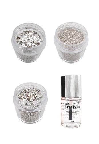 Pretty2u Diamond Shine Powder 3 Type + Top Coat PR716BE34RSNMY_1