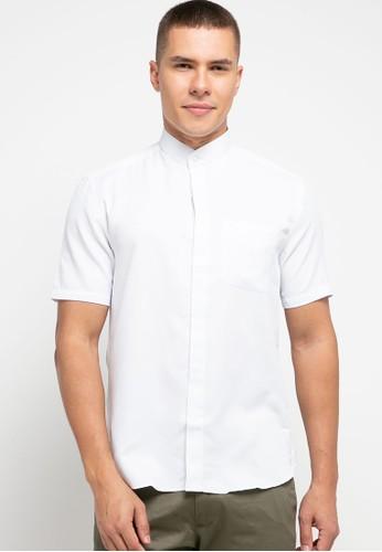 LORIENT white Lorient Short Sleeves Croix Slim Shanghai Collar B42B2AA8B4265FGS_1