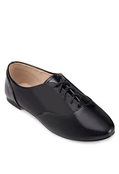 【ZALORA】 漆皮繫帶牛津鞋