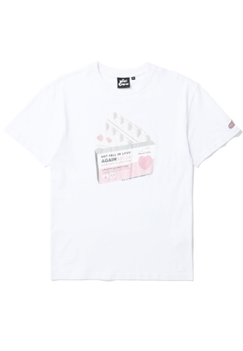 Mini cream white Pill box graphic tee A231EAAE3A953AGS_1