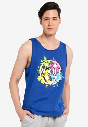 OVS 藍色 Men's MAUI T-shirt A0520AA712BE8EGS_1