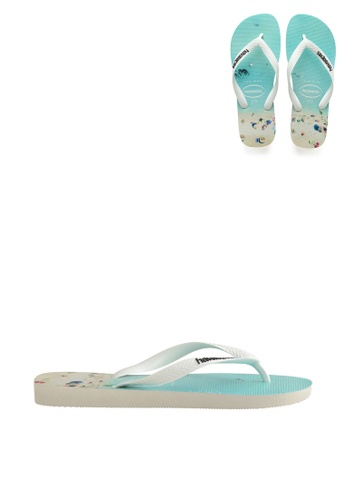 Havaianas white and blue Havaianas Hype 81007SH072AC2FGS_1