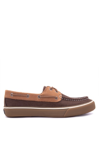 Sperry brown Bahama 2 Eye Textured Canvas Sneakers SP132SH0IJWXPH_1