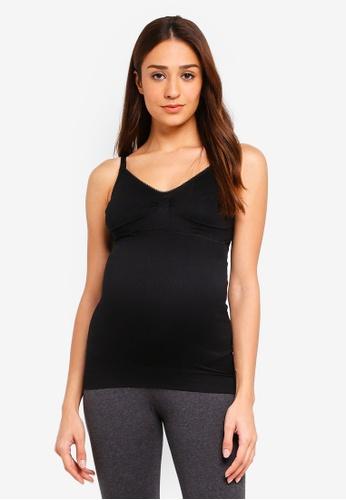 JoJo Maman Bébé black Maternity Seamless Postnatal Support Nursing Vest 88346AA1C5A4A6GS_1