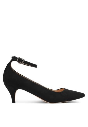 ZALORA black Duo Strap Pointed Low Heels 4E75DSH872C35DGS_1