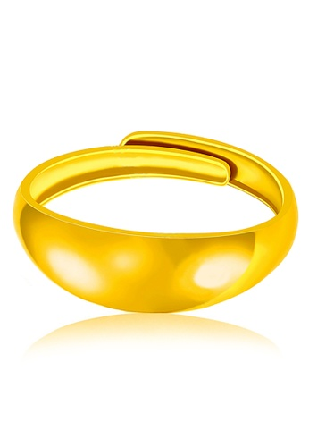 YOUNIQ gold YOUNIQ Premium Smooch 24K Gold Plated Ring YO999AC29SFMMY_1