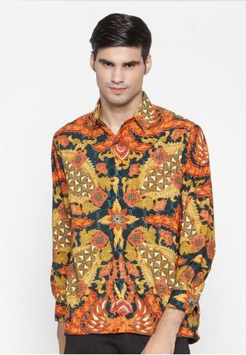 Waskito Kemeja Batik Semi Sutera - KB LE 0702 - Orange