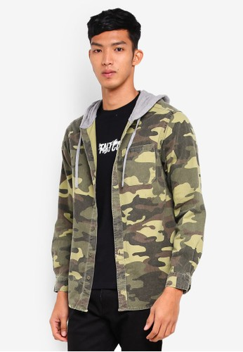 Factorie multi Long Sleeve Hooded Shirt 5C6A2AAC3FCDDAGS_1