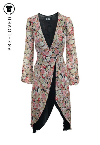 Reformation multi Pre-Loved reformation Floral Wrap Dress 971D6AA203DD73GS_1