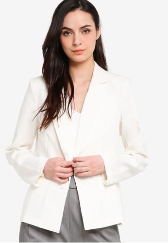 ZALORA WORK white Tailored Blazer AABEAAA3CDCD6DGS_1
