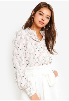 92936355bf87d6 Dorothy Perkins pink Blush Bird Longline Shirt 085BDAA98EDE6AGS 1