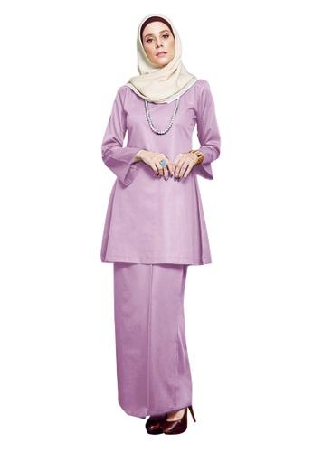 Inhanna purple GULINEAR Kurung Riau Dusty Purple 22060AAD68F3F9GS_1