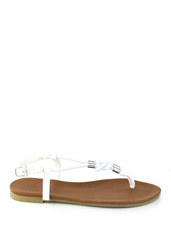 London Rag white Flora Toe Post Flat Sandals SH1207 60DAFSH2B54BB8GS_1