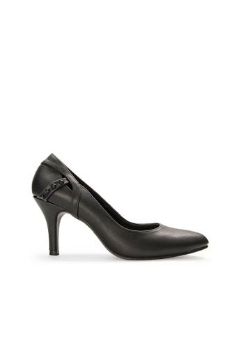SEMBONIA black SEMBONIA Synthetic Leather Court Shoe (Black) C3392SHAE5AA33GS_1