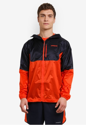 Patagonia orange and navy Alpine Houdini Jacket PA549AA0RQD1MY_1