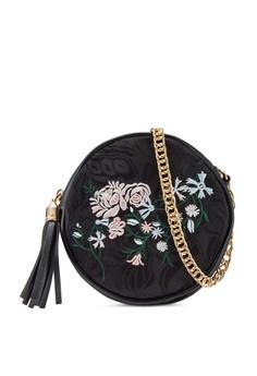 Zalia  Zalia Embroidered Round Sling Bag
