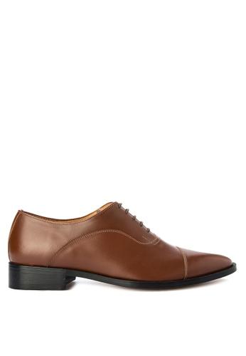 Bristol Shoes brown Bellamy Brown Captoe Oxford BR842SH0KS54PH_1