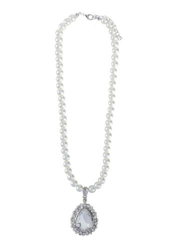 水滴形吊飾esprit官網珍珠項鍊, 飾品配件, 飾品配件