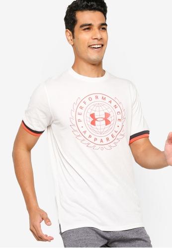 Under Armour 白色 UA Crest Short Sleeve Tee FD363AAF554D39GS_1