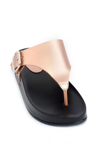Ohrelle gold Danielle Blaze Buckled Thongs Flops 20394SH2AE1EFDGS_1