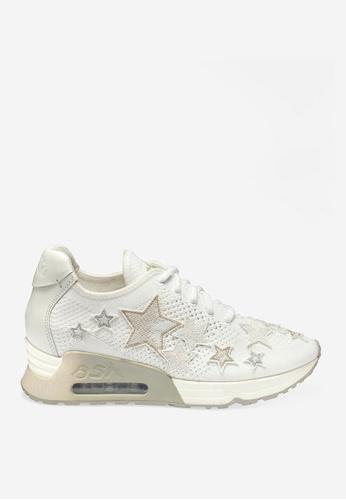 ASH 白色 Lucky Star - 米灰色星形元素運動鞋 351EESH34581E5GS_1