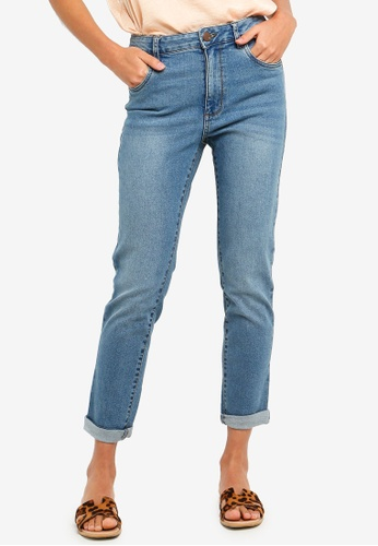 Cotton On blue High Rise 90S Stretch Jeans 2 6F0D6AA1863813GS_1