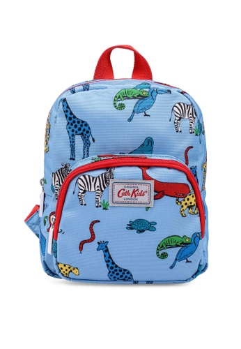 Cath Kidston grey and blue Animals Kids Mini Backpack 61C9AKC649FBDBGS_1