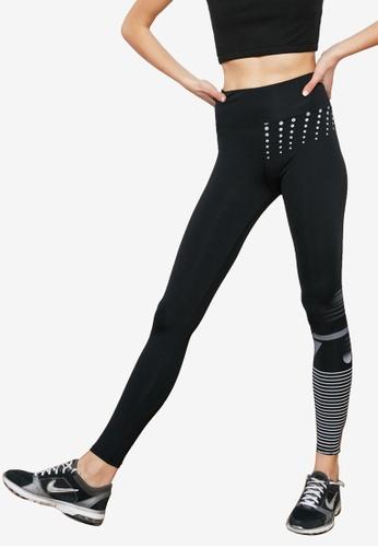 Trendyol black Duo Color Printed Leggings CF427AA5272308GS_1