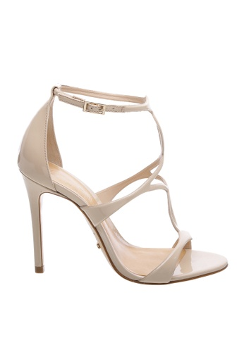 SCHUTZ 白色 and 米褐色 SCHUTZ 搭帶高跟涼鞋 - AMELIA (白色) 0E05CSH1A1B9E4GS_1