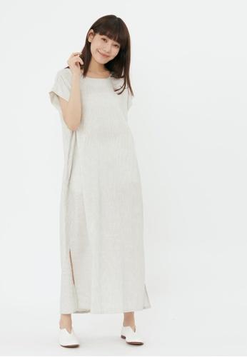 so that's me white Iris Drop Shoulder Pockets Long Dress Stripe white 1CA6DAA3EE7DCCGS_1
