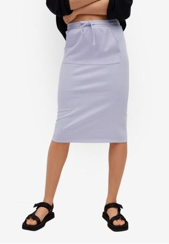 Mango blue Pocket Cotton-Blend Skirt DDF82AA04D41C5GS_1
