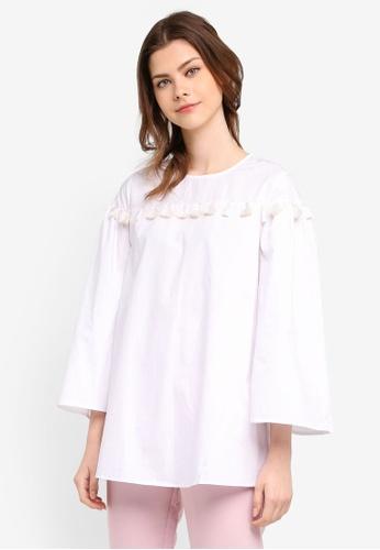 Zalia white Tassel Tunic 88643AAEFAB0C5GS_1