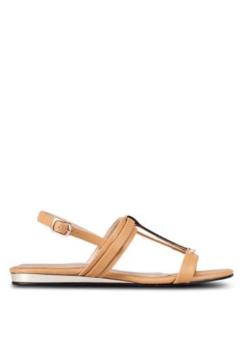 Bata brown Strappy Sandals BA156SH0RY6EMY_1