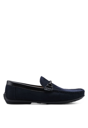 Louis Cuppers navy Faux Suede Loafers 5C339SH0BDAEA4GS_1