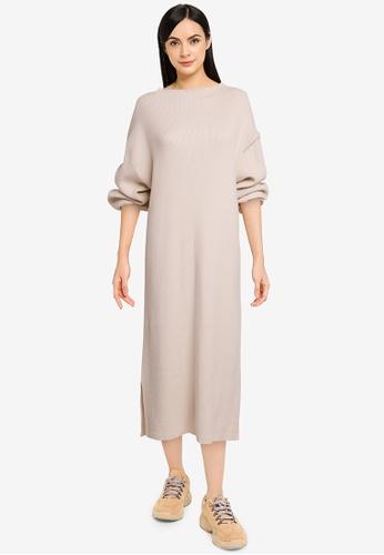 LOWRYS FARM white Knit Pullover Dress 95DF4AA072386CGS_1