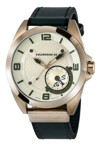 HUMMER green Hummer 3H Green Leather Strap Gents Watch  HM1004-1025 BB5CFAC9132B07GS_1